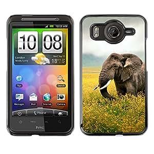 EJOY---Cubierta de la caja de protección la piel dura para el ** HTC G10 ** --Happy Elephant