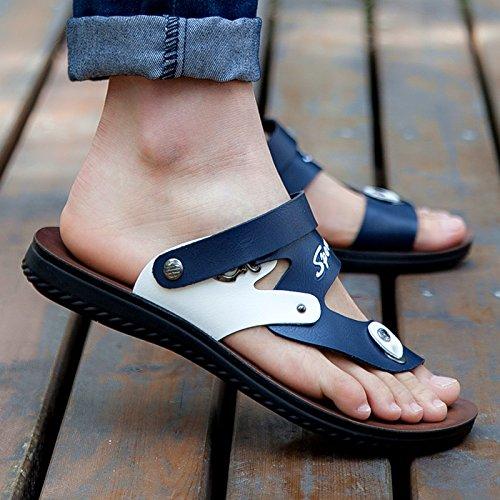 ZHNAGJIA der der der Sommer Anti Slip Toe Clip Männer Sandalen, Badeschuhe, Neue Koreanische Version, Coole Hausschuhe, 38,906 Deep Blau 97c785