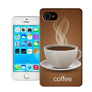 Natalie Works Unique Design A Cup of Tasty Coffee TPU Hard Cases for iPhone 4/4S Hot Sell Protective Case