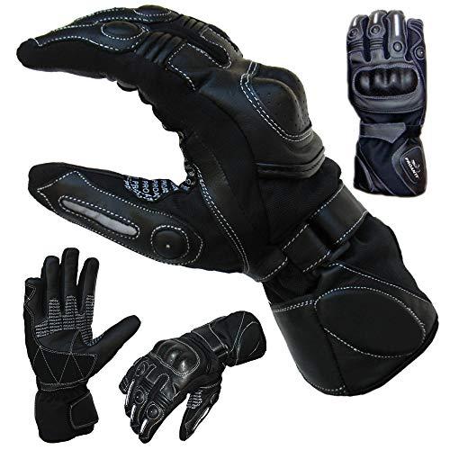 PROANTI Sommer Regen Motorradhandschuhe mit Visierwischer Motorrad Handschuhe