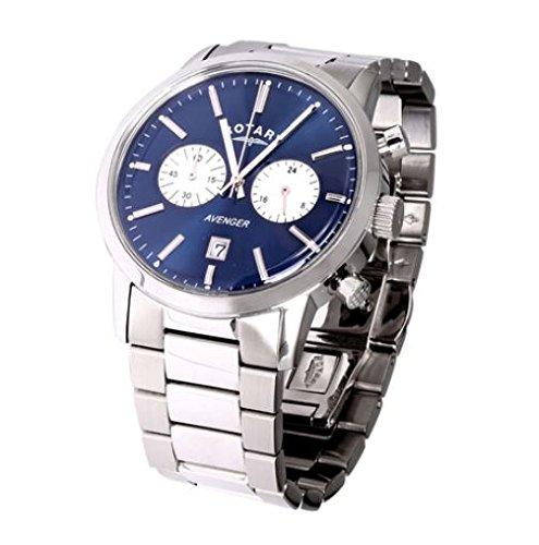 Rotary GB02730/05 - Reloj de Pulsera Hombre, Acero Inoxidable, Color Plateado: Amazon.es: Relojes