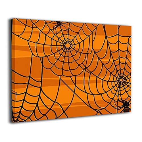 Janeither Canvas Wall Art Scary Halloween Spiders Graphics Artistic 16