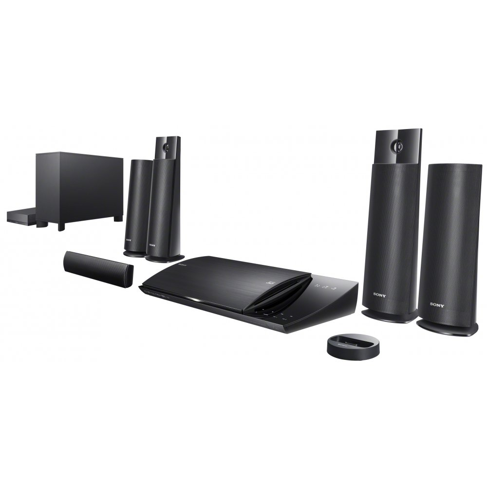 Sony 1000W 3D Wi-Fi Blu-ray BDVN790 Home Cinema System with Rear ...