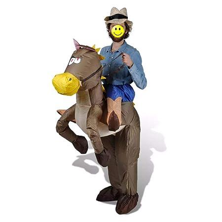 Tidyard - Disfraz de Vaquero y Caballo Inflable para Caballo ...