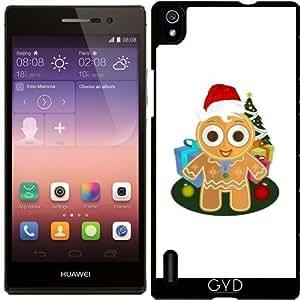 Funda para Huawei AscendP7 - Navidad - Hombre De Pan De Jengibre by Adamzworld