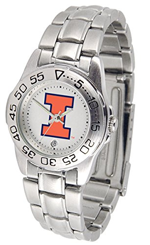 - NCAA Illinois Fighting Illini Ladies Gameday Sport Watch with Stainless Steel Band