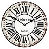 French Tower Wall Clock, Available in 8 sizes, Most Sizes Ship 2 - 3 days, Whisper Quiet.