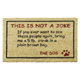 """interesting front patio decor ideas Rubber-Cal """"Bring a 5lbs. Steak! Dog Door Mat, 18 by 30-Inch"""