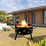 hmercy Outdoor Fire Pit 30 Inch Fireplace Wood