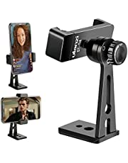 Ulanzi ST-04 Aluminum Smartphone Tripod Mount Adapter Vertical Video Bracket Cell Phone Clip 360 Degree Smartphone Video Tripod Clamp for iPhone Xs Xs Max XR 8 Android Instagram IGTV Livestreaming