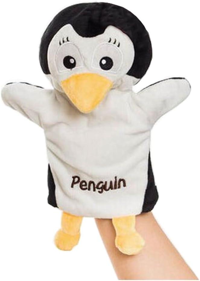 Black Temptation Los Animales de Peluche Marionetas de Mano Divertidos Juguetes para los niños, pingüino