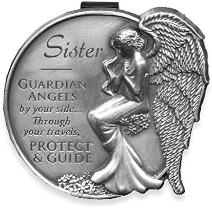 3.75 Visor Clip-Birthstone Angel-June