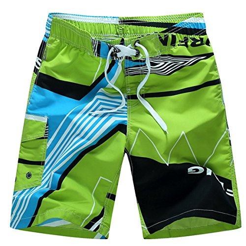 Weekend Drawstring (Men's Weekend Casual Drawstring Water Short Swim Suit Swimwear Beach Board Shorts Green Size XXXL)