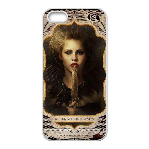 The Vampire Diaries 028 coque iPhone 4 4S cellulaire cas coque de téléphone cas blanche couverture de téléphone portable EOKXLLNCD20306