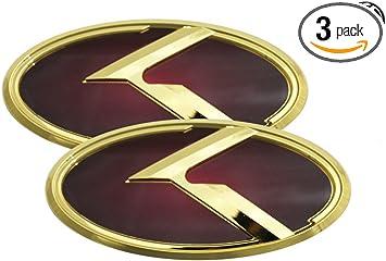 Fits: KIA 2018+ Stinger 3D K Logo Black Emblem 3pc SET