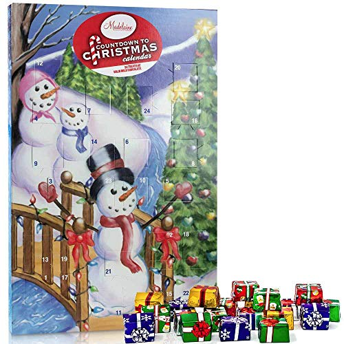 Madelaine Chocolates Christmas By The Creek 2019 Countdown Advent Calendar, Filled With (8 oz - 226 g) Solid Premium Milk Chocolate Presents (1 Pack) (Christmas Kids Chocolate)