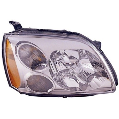 » Compatible 2005-2007 Mitsubishi Galant Front Headlight Assembly Housing/Lens/Cover - Right (Passenger) Side - (SE) MR991162 MI2503127 Replacement For Mitsubishi ()