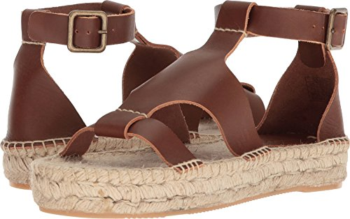 Soludos Women's Banded Shield Sandal Platform, Walnut, 10 Regular -