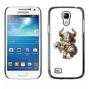 TopCaseStore / la caja del caucho duro de la cubierta de protección de la piel - Hammer Horns Kids Character - Samsung Galaxy S4 Mini i9190 MINI VERSION!