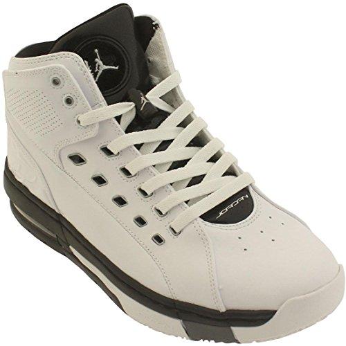 Jordan OlSchool Mens Basketball Shoes 317223-113 Size 12 D(M) US White/Metallic Silver/Black/Cool Grey