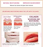 Permotary 30 Pieces Pink Gel Collagen Lip Mask