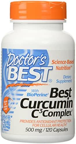 Doctor's Best Curcumin C3 Complex with Bioperine (500 Mg), Capsules, 120-count (120 X 2)