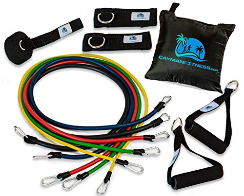Cayman Fitness Premium Resistance Band Pro Set Exercise Bands Tubing