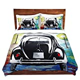 DiaNoche Designs Microfiber Duvet Covers Markus Bleichner - Volkswagon Bug Split Window