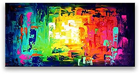 Oil Painting Abstract Modern Art On Canvas Home Decor Handmade Mixed Colors
