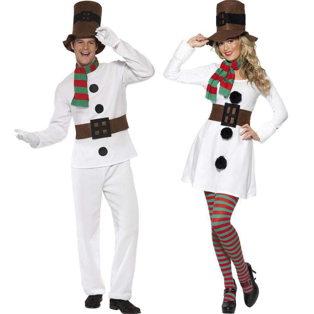 Shisky Weihnachtskostüme, Paar Weihnachtskostüm Weihnachten Paar Kostüm Party Bühne