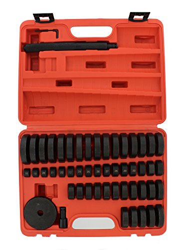 ABN Bush, Bearing, Seal Driver 50-Piece Set with Carrying Case – 18-65mm & 74mm Metric Discs, Shaft, Allen Key, Screw by ABN (Image #2)