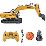 RC Excavator, 2.4GHz 1:16 Simulation Model Car Remote Control Engineering Vehicle Toy Gift for Kids Children
