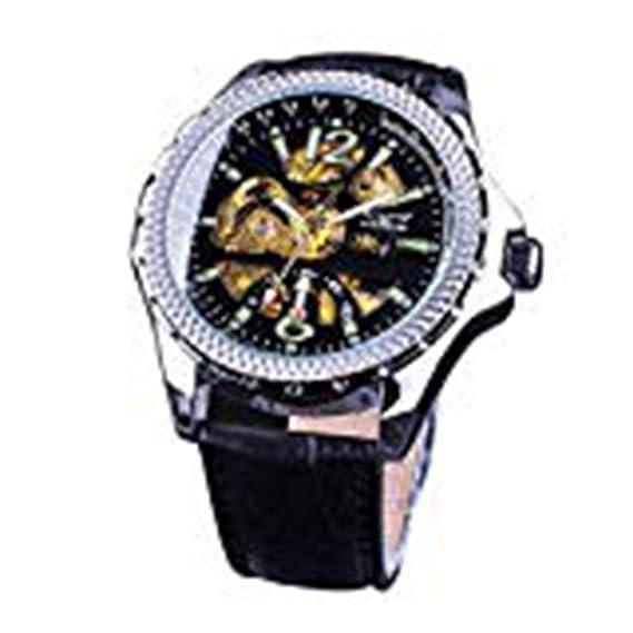 Jaragar - Reloj de Pulsera para Hombre, diseño de números Verdes