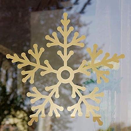 CAODANDE-chuanghua Etiqueta de la Ventana Pegatinas de Pared románticas Ventana de la Navidad del Copo de Nieve, Grandes Puertas de Cristal Decoradas Pegatinas Copo de Nieve Etiqueta de la Ventana