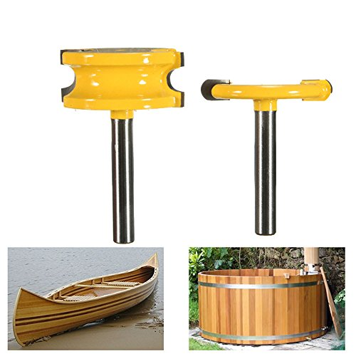 """Promisy 2Pcs Wood Router Bits 1/4"""" Shank For Arc"""
