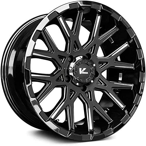 V-Rock Recoil Gloss Black Milled 20 Inch Rims