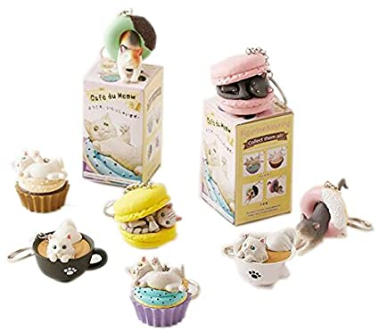 Clever Idiots Cafe du Meow Dessert Cat Keychain - Blind Box Includes 1 of 8  Collectable 152f368cbb34