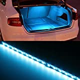 iJDMTOY (1) 18-SMD-5050 LED Strip Light For Car Trunk Cargo Area or Interior Illumination, Ice Blue