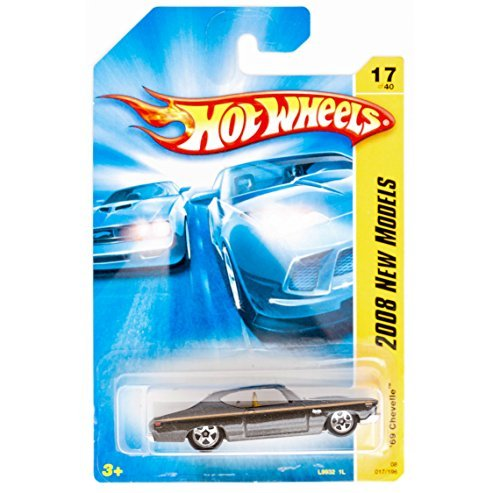 - Hot Wheels Chevelle SS '69 Black 5 Spoke Chrome carriage & Ends 2008 1/64 #17
