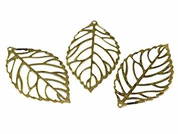 6 Blätter in antik silberfarben