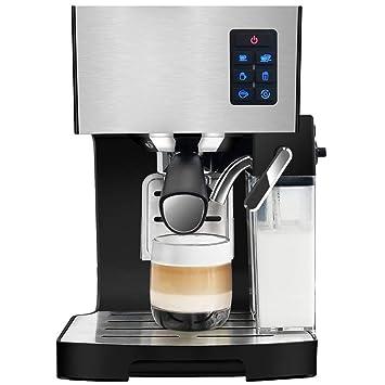LJZQ Máquina automática de café Bean To Cup 1350 vatios 1.4 litros de volumen del tanque de agua (plata): Amazon.es: Hogar