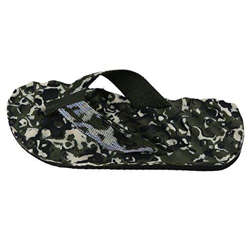 Pantofole - SODIAL(R) Mens punta rotonda Camouflage Pattern Beach scarpe infradito
