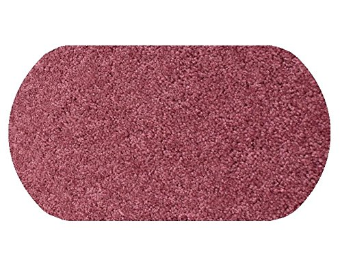 7'X10' OVAL Area Rug Carpet. DUSTY PINK ROSE RED 30 oz. ½