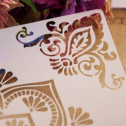 per Pittura Scrapbooking JunYe Stencil per Angoli Album e Biglietti Fai da Te goffratura Motivo Floreale