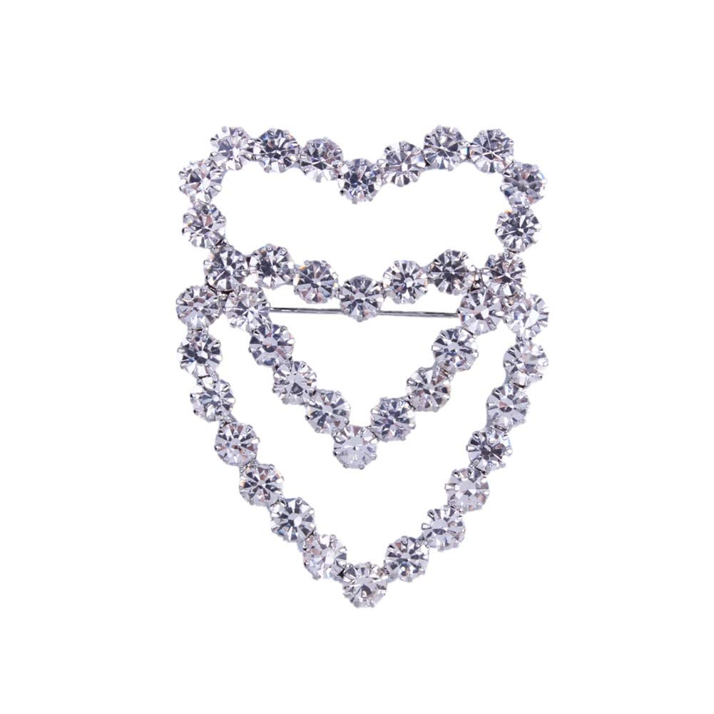 Spilla Spilla con strass Spilla a forma di cuore Shinning Strass con motivo a cuore Spilla Collare Spilla Abbigliamento Accessori Gioielli Regalo Bello e lucido in apparenza 02#