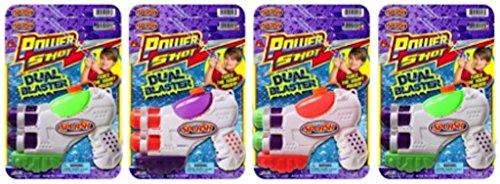 - JA-RU Splash Power Shot Dual Blaster Water Gun Party Favor Bundle Pack