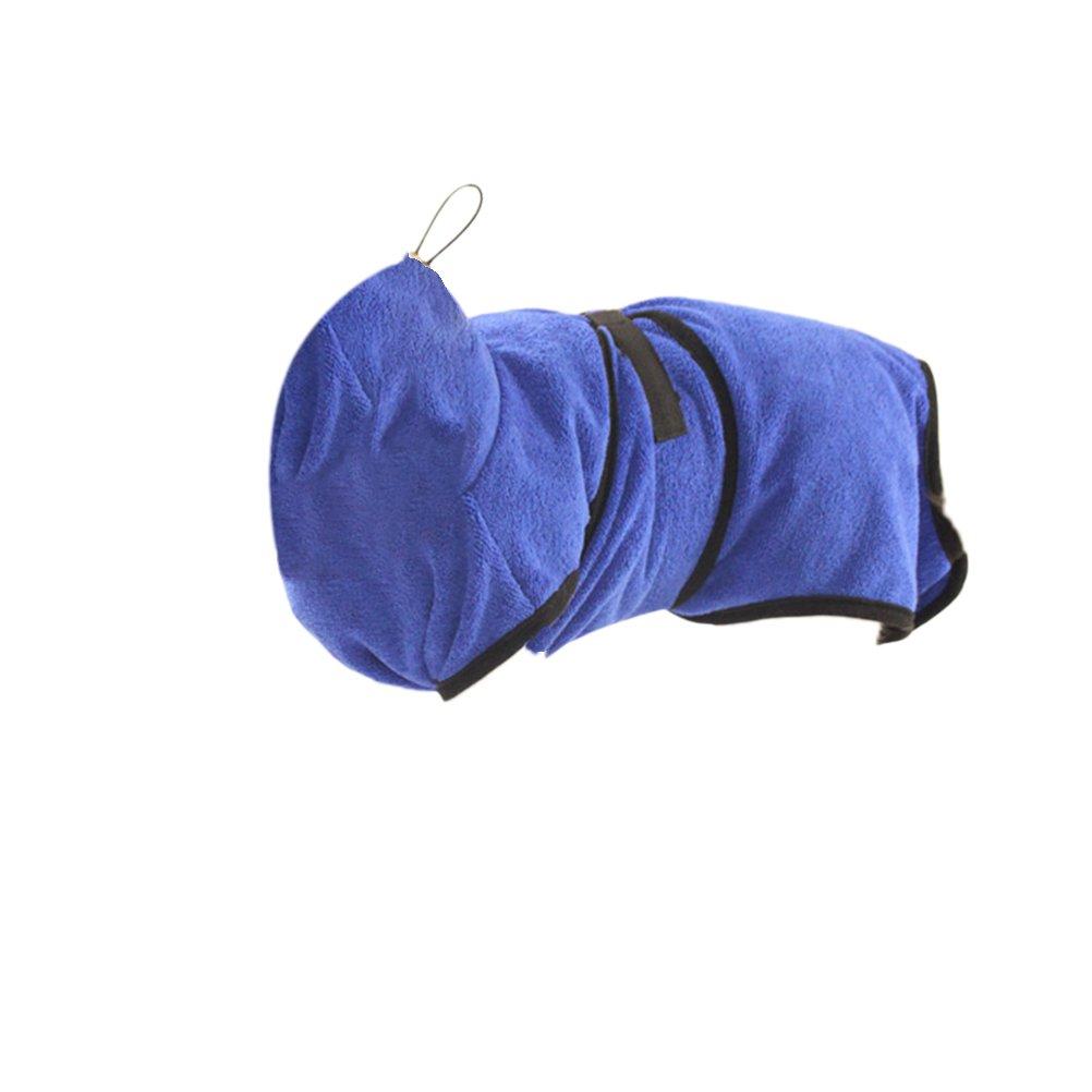 UKCOCO Serviette Peignoir de Chien, Serviette de Bain pour Chien, Serviette Sèche Rapide de Chien en Microfibre, Robe de Bain pour Chiens de Compagnie - Taille M