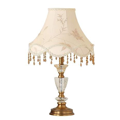 HZH Lámpara de Mesa de Cristal romántica cálida pequeña ...