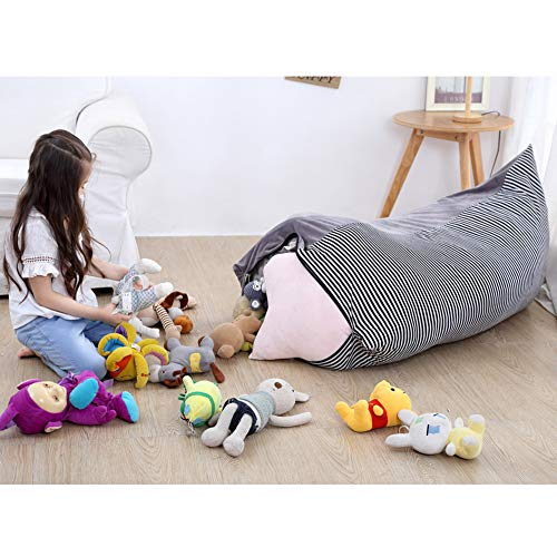 Eforstore Toy Storage Bag Crystal Velvet Storage Bag Thickened Portable Large-Capacity Woven Moving Bag by Eforstore (Image #1)