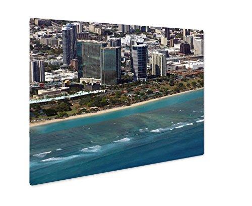 Ashley Giclee Metal Panel Print, Aerial Of Ala Moana Beach Park Mall Condos And Cityscape Of H, 8x10, - Ala Mall Moana Hawaii